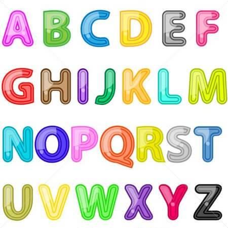 Letras Do Alfabeto Para Imprimir Recortar Colorir Modelos