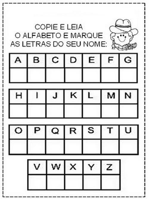Atividades de Alfabetização para Imprimir bem divertidas