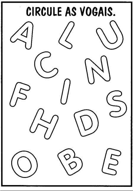 imagem 20 - Atividades de Alfabetização para Imprimir bem divertidas
